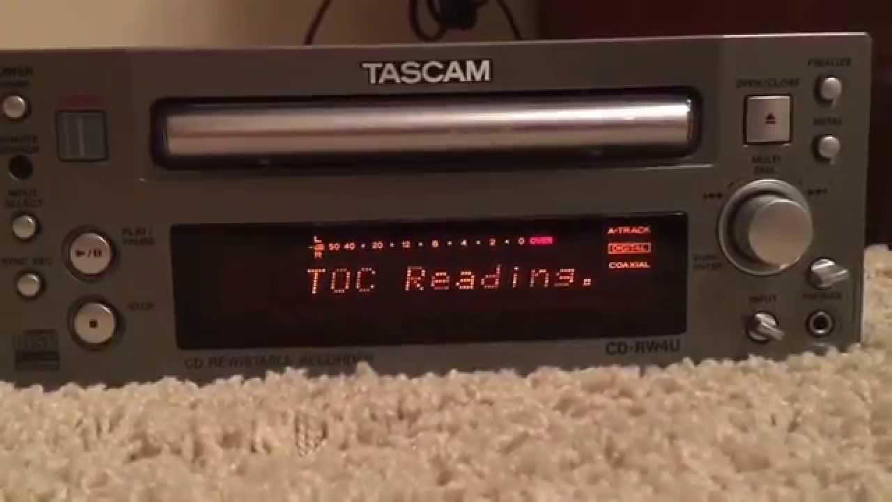 Tascam CD-RW4U - YouTube