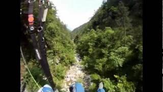Horrorflug mit Gleitschirm in die italienische Klamm, ein fast crash beim paragliding