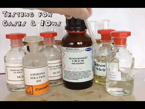 Inorganic Chemical Tests: Gases, Cations and Anions.