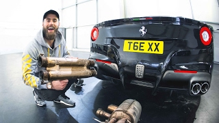 New exhaust on my F12! LOUD revs & acceleration!