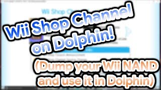 Wii Shop Channel on Dolphin! (How to Dump your NAND to get a fully working Wii!)