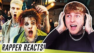 Machine Gun Kelly, YUNGBLUD, Travis Barker - I Think I'm OKAY | RAPPER REACTS