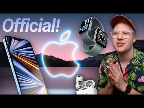 Apple 14 septembre ÉVÉNEMENT Dévoilé! Inviter des secrets, iPhone 13 et Apple Watch Series 7
