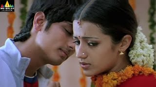 Nuvvostanante Nenoddantana Movie Scenes | Siddharth and Trisha Scene | Sri Balaji Video