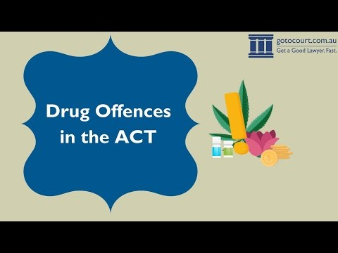 Drug Offences in the Australian Capital Territory