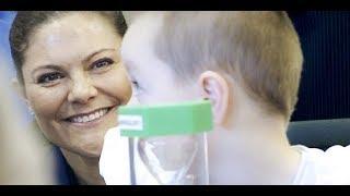 Kronprinsessan Victoria på barn- och ungdomssjukhuset i Linköping