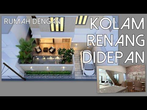 Desain Rumah Dengan Kolam Renang Didepan 115x125m Kode 097 Youtube