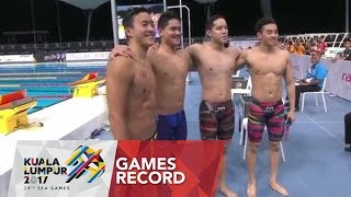 Download Video Swimming Men's 4 x 100m freestyle relay   Games Record   29th SEA Games 2017 MP3 3GP MP4