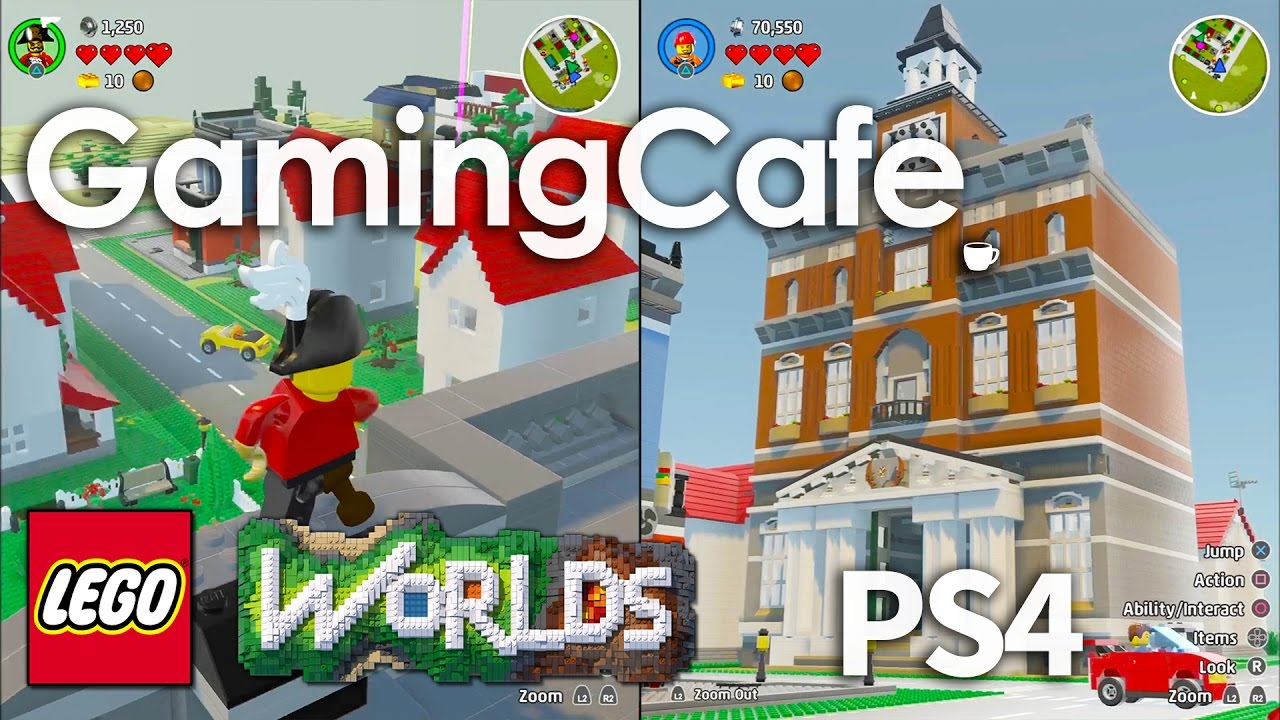 lego worlds let 39 s play part 21 ps4 town hall city. Black Bedroom Furniture Sets. Home Design Ideas