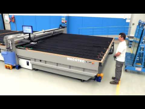 Automatic Glass plate Rotation on Macotec Laminated Glass Cutting Tables