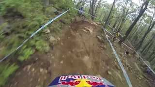 Gee Atherton's Mt St Anne Crash 2013 - Captured on Go Pro