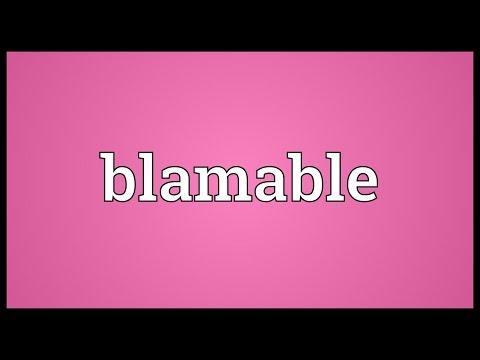 Header of blamable