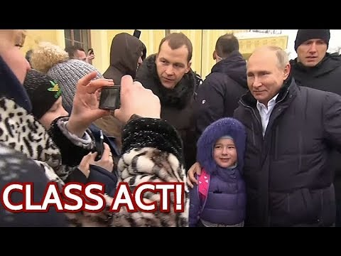 WOW: Putin Stops His Limo To Comfort Crying Girl And Take Photo With Her! Watch Until The End!