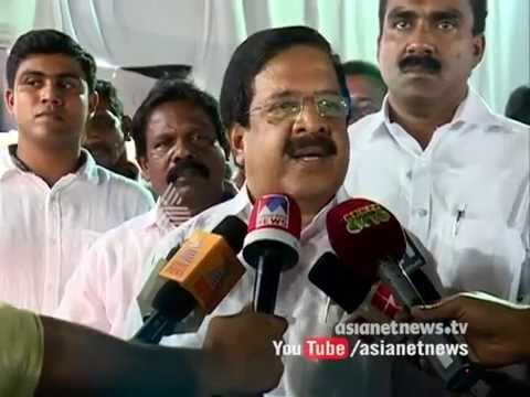 Ramesh Chennithala against Kodiyeri Balakrishnan on their stance about K M Mani