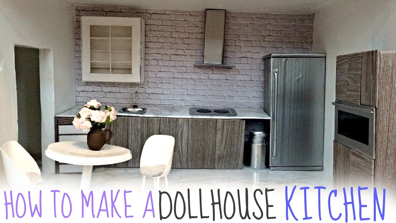 Diy Dollhouse Kitchen Youtube