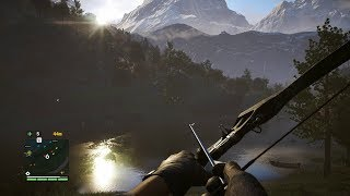 Silent PEOPLE HUNTER with Battle Bow from FPS Game on PC Far Cry 5