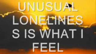 unusual loneliness  (rainy day) LYRICS- Janelle Volny