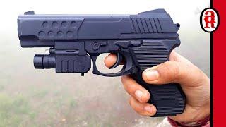 Pistol Toy Gun with Laser Light Unboxing Laser Gun