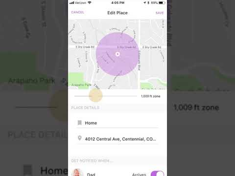 Life360 Tutorial How To Create And Edit Place Notifications Youtube