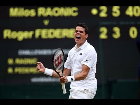 Milos Raonic VS Roger Federer Highlight 2016 SF