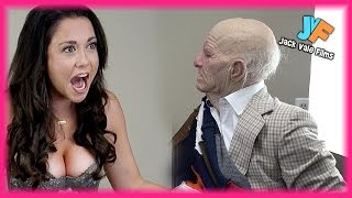 Old Man Scares Hot Girl PRANK!!!