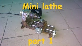 Homemade mini lathe