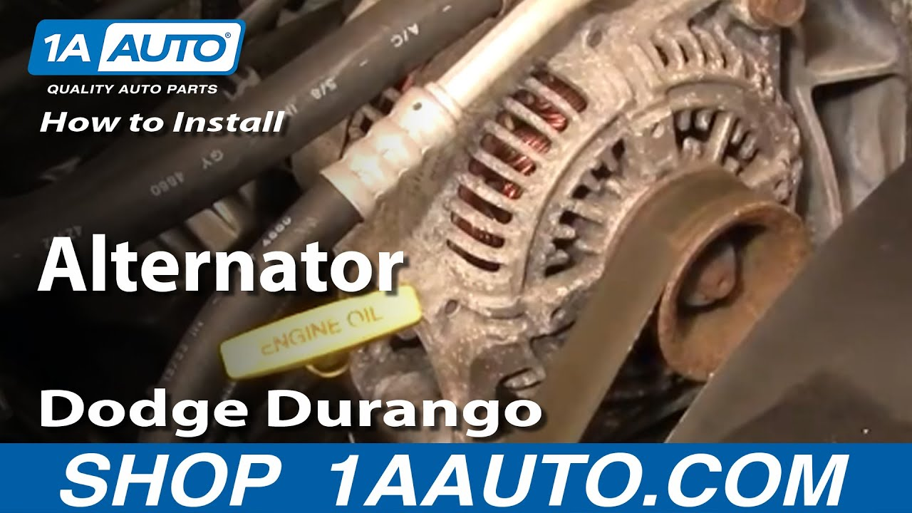 how to install replace alternator dodge durango dakota 98 03 1aauto com youtube [ 1920 x 1080 Pixel ]