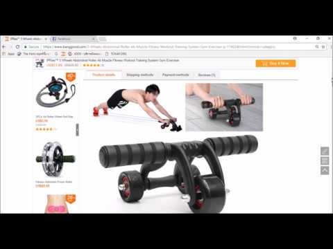 IPRee™ 3 Wheels Abdominal Roller Ab Muscle Fitness Workout Training System Gym Exerciser