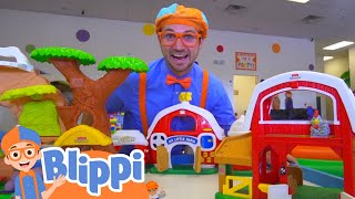 Blippi Visits Fidgets Indoor Playground!   Learn With Blippi   Educational Videos For Kids