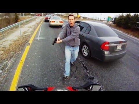 Maryland State Trooper draws gun on speeding motorcyclist