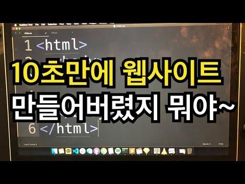 웹사이트 10초만에 만들기 (10분 걸려도 책임은 안 짐) - HTML / CSS 배우기