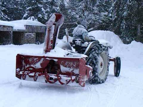 1953 Ford 8N - Ford Jubilee Tractor Snowblowing - 1953 Ford 8N