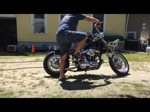 Cold KIck Start '74 Harley Ironhead XLCH 1000