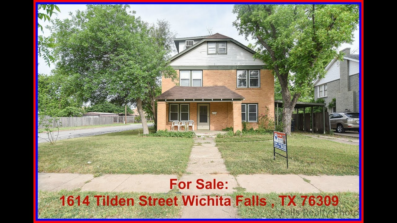 Real Estate For Sale In Wichita Falls Tx 1614 Tilden Street Wichita