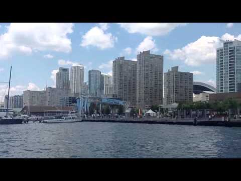 CN Tower and Cool Buildings From Toronto Harbor