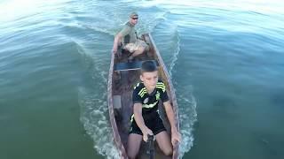 Самодельная лодка из пенополистирола и эпоксидной смолы