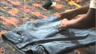 Transformacion de pantalon a falda