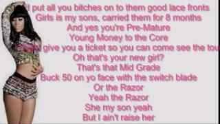 Nicki Minaj , Cassie The Boys Lyrics Video (Clean)