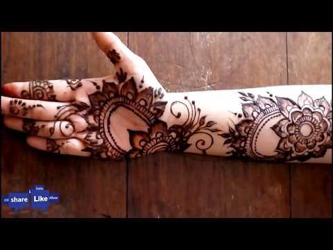 Arabic Mehendi Design   Ramadan Special 2018   Ramazan   ramzan   Eid- ul- Fitar    Full Hand Henna