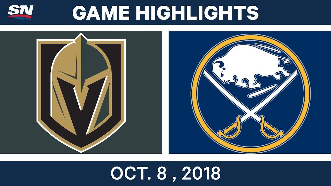 NHL Highlights | Golden Knights vs. Sabres - Oct. 08, 2018