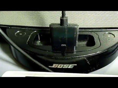 Bose Sounddock 1 usando adaptador de 30pinos como entrada auxiliar para P2