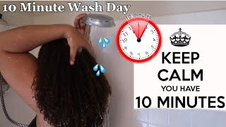 10 Minute Wash Day For Moisture + Length Retention | Natural Hair