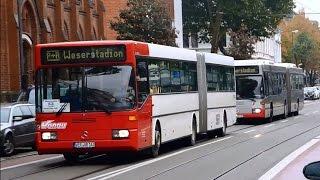 Bremen: Fußball-Sonderverkehr mit alten P+R Bussen und Bahnen - VBN und BSAG | MB (O405), Setra, MAN