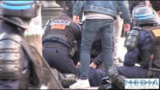 [Gilets jaunes ACTE 19] Grave malaise cardiaque d'un policier entouré et secouru par ses collègues
