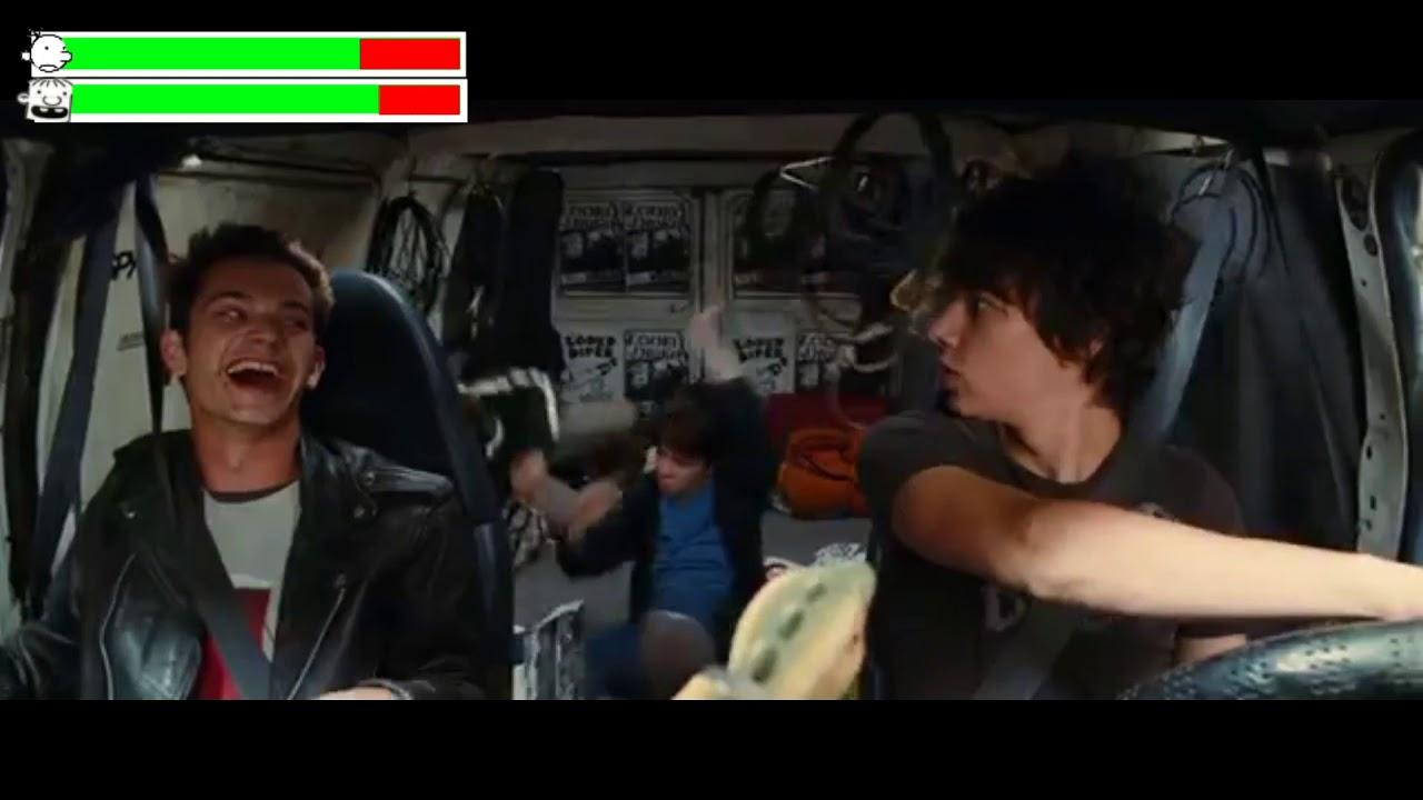 Diary Of A Wimpy Kid Rodrick Rules Crazy Van Driving Scene With Healthbars Youtube