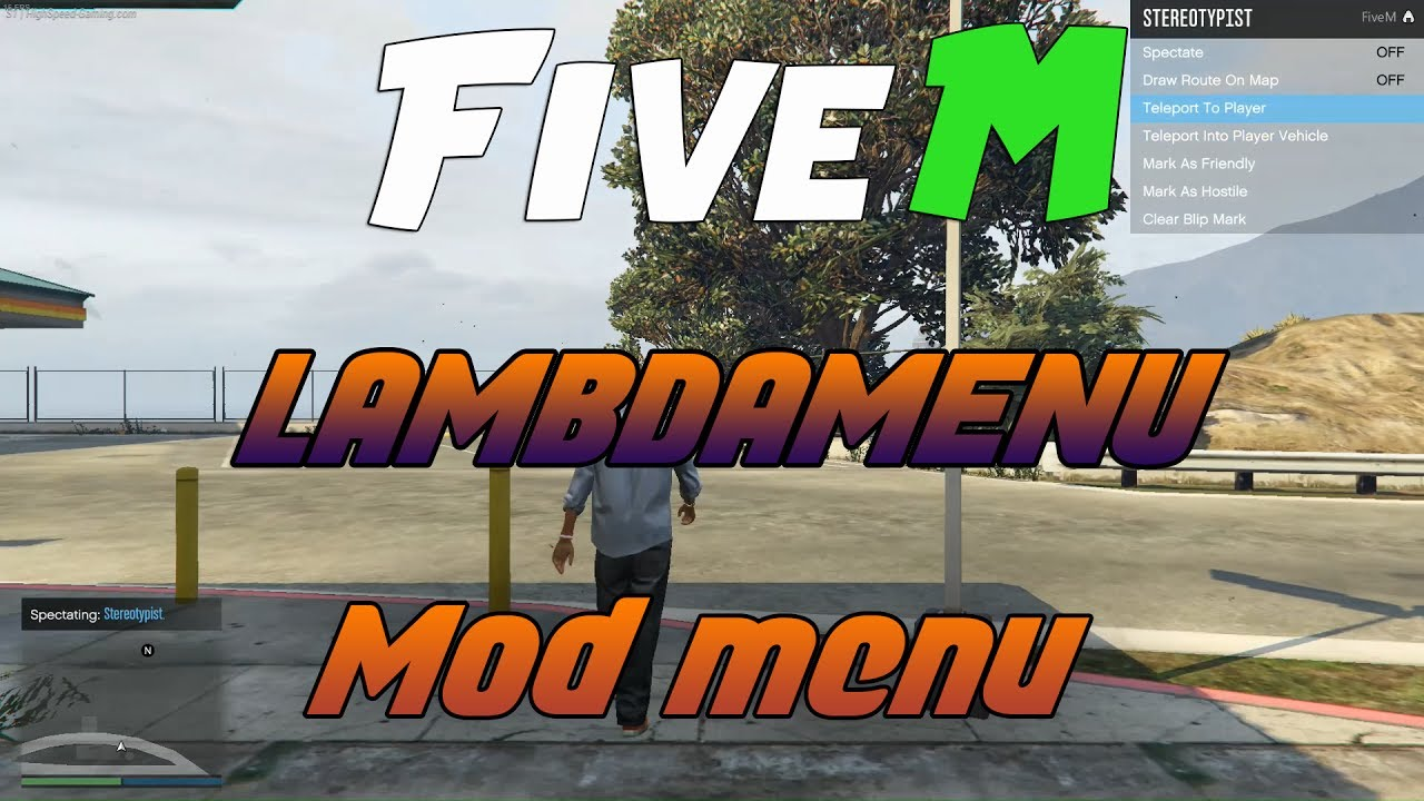 [Hack] [ENG] GTA V FiveM - LAMBDAMENU - No Detected - Give All weapons -  Spectate