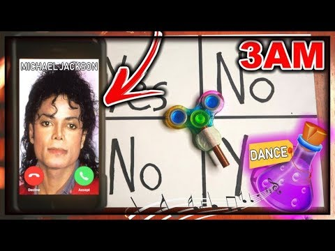 DO NOT PLAY CHARLIE CHARLIE FIDGET SPINNER WHEN CALLING MICHAEL JACKSON AT 3AM!! *DANCING POTION*