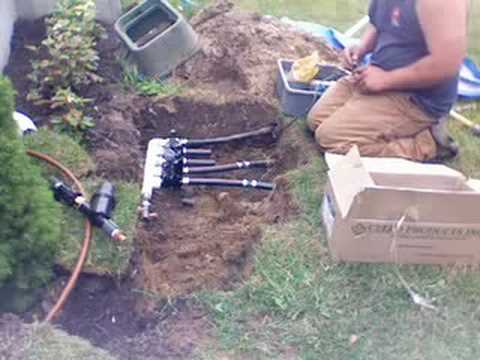 & Installation of a Poly Pipe Manifold 2 - YouTube