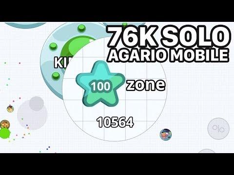 AGARIO MOBILE SOLO 76K (Agar.io Mobile Gameplay)