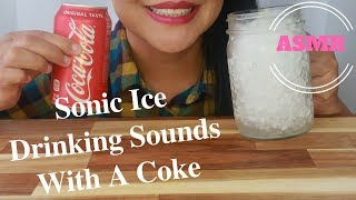 ASMR - Sonic Ice Drinking Sounds With A Coke (No Talking)